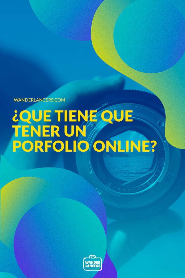 Que tiene que tener un portfolio online